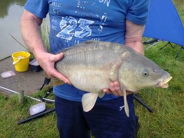 John Mullen with 18lb Mirror Carp - August 2012